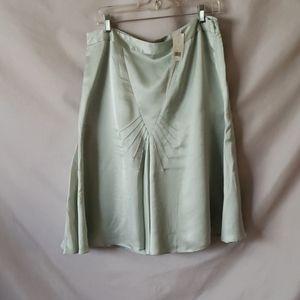 Banana Republic Mint Silk Skirt